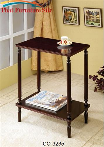 Accent Tables Casual 1-Shelf End Table by Coaster Furniture  | Austin