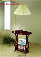 Accent Tables Magazine Storage Lamp Table by Coaster Furniture