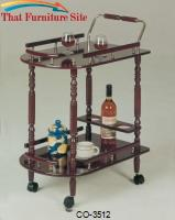 3512 Serving Cart with Brass Accents by Coaster Furniture