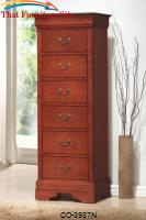 Louis Philippe Louis Philippe Style 6 Drawer Tall Chest with Hidden Jewelry Storage by Coaster Furniture