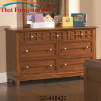 Aiden Casual Brown 7-Drawer Dresser by Coaster Furniture