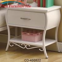 Bella Youth White Night Stand by Coaster Furniture