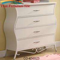 Bella Youth Four Drawer Dresser in White by Coaster Furniture