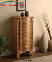 Jewelry Armoires Deluxe Oak Jewelry Armoire by Coaster Furniture