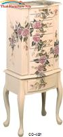 Jewelry Armoires Hand Painted Jewelry Armoire by Coaster Furniture