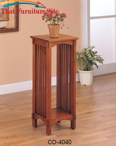 Accent Stands Mission Style Square Plant Stand by Coaster Furniture  |