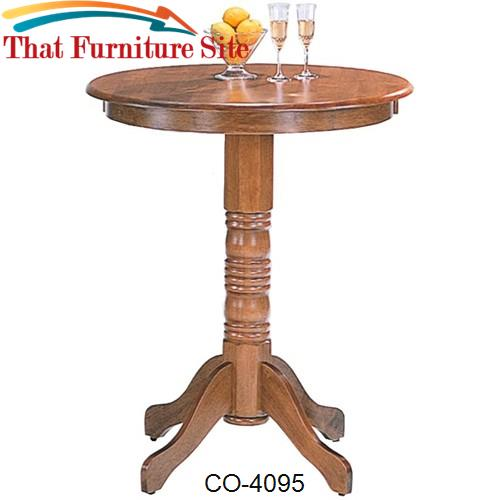 Woodlawn Round Pedestal Bar Table by Coaster Furniture  | Austin