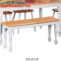 Damen Traditional Wood Dining Bench by Coaster Furniture