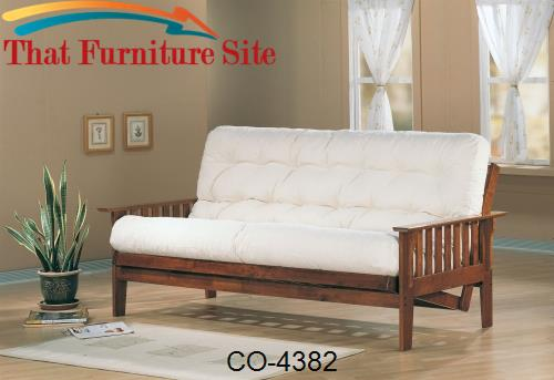 Futons Casual Futon Frame with Slat Side Detail by Coaster Furniture