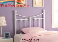 Youth Headboards Twin White Metal Headboard by Coaster Furniture