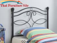Youth Headboards Transitional Twin Metal Headboard by Coaster Furniture