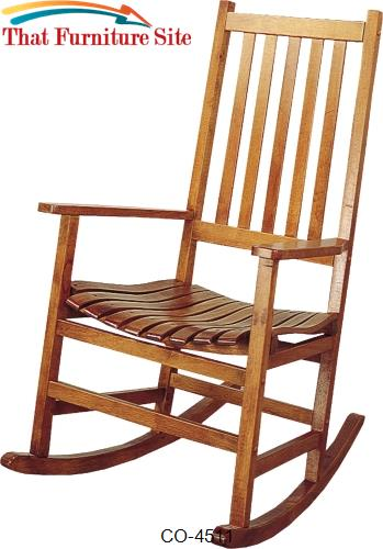 Rockers Casual Traditional Wood Rocker by Coaster Furniture  | Austin