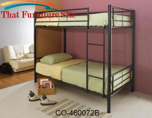 Denley Metal Twin over Twin Bunk Bed by Coaster Furniture  | Austin