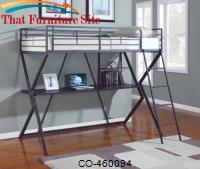 Bunks Workstation Twin Loft Bed by Coaster Furniture