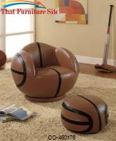 Kids Sports Chairs Small Kids Basketball Chair and Ottoman by Coaster Furniture