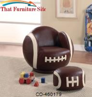 Kids Sports Chairs Small Kids Football Chair and Ottoman by Coaster Furniture