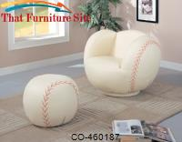 Kids Sports Chairs Large Kids Baseball Chair and Ottoman by Coaster Furniture