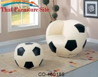 Kids Sports Chairs Large Kids Soccer Ball Chair and Ottoman by Coaster Furniture