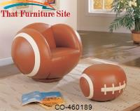 Kids Sports Chairs Large Kids Football Chair and Ottoman by Coaster Furniture