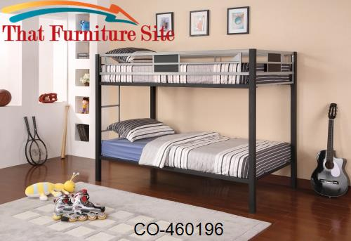 Morrell Contemporary Twin over Twin Bunk Bed by Coaster Furniture  | A