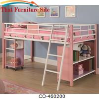Sadie Twin Loft Bed with Storage Shelves & Slide Out Desk by Coaster Furniture
