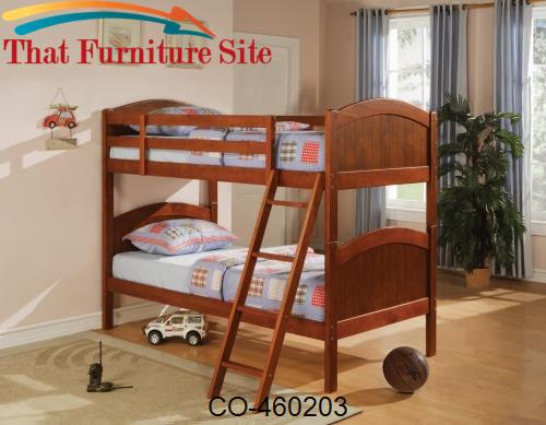 Bunks Twin Over Twin Bunk Bed by Coaster Furniture  | Austin