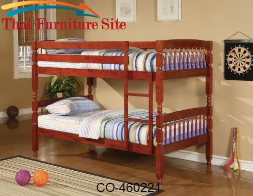 Coral Traditional Twin Over Twin Bunk Bed by Coaster Furniture  | Aust