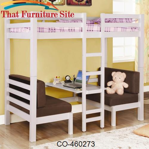 Bunks Twin Over Twin Convertible Loft Bed by Coaster Furniture  | Aust