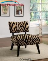 Zebra Print Accent Chair by Coaster Furniture