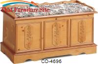 Cedar Chests Pine Cedar Chest with Padded Seat by Coaster Furniture
