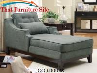 Accent Seating Upholstered Chaise by Coaster Furniture