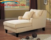 Accent Seating Microfiber Chaise Lounge by Coaster Furniture