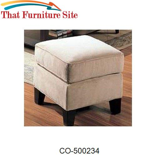 Park Place Cream Ottoman by Coaster Furniture  | Austin
