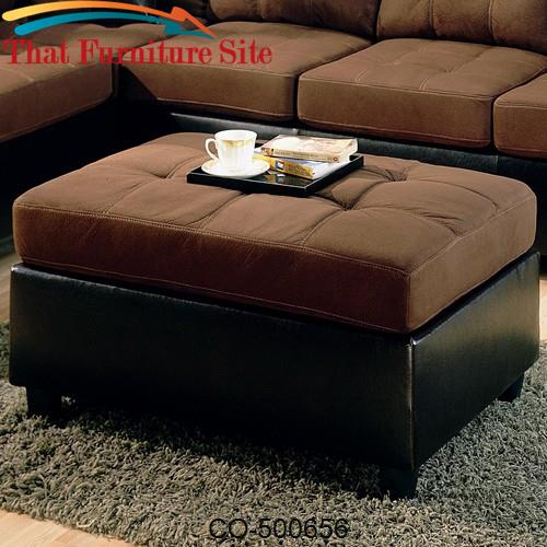 Harlow Contemporary Two Tone Ottoman by Coaster Furniture  | Austin