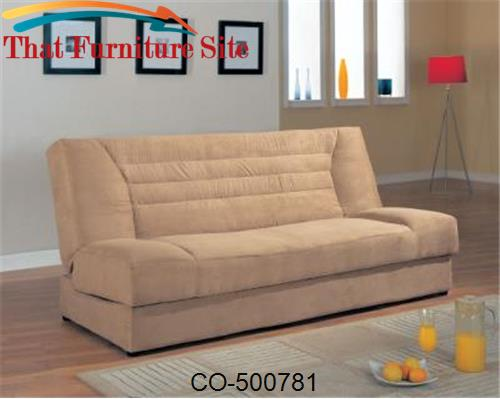 Sofa Beds Armless Fabric Convertible Sofa Bed with Storage by Coaster