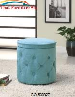 Ottomans Circular Storage Ottoman by Coaster Furniture