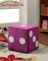 Ottomans Fuzzy Dice Ottoman by Coaster Furniture