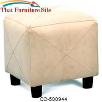 Ottomans Contemporary Microfiber Cube Ottoman by Coaster Furniture