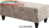 Benches French Script Storage Bench by Coaster Furniture