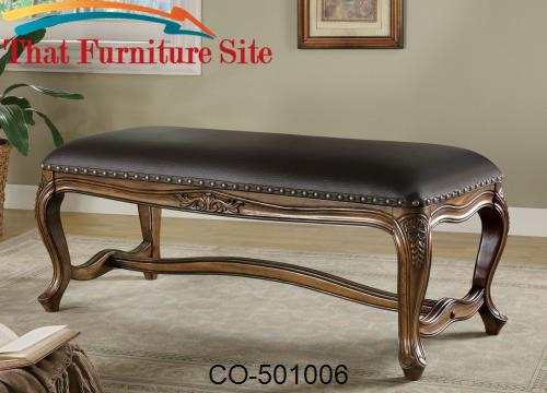 Benches Traditional Upholstered Bench by Coaster Furniture  | Austin