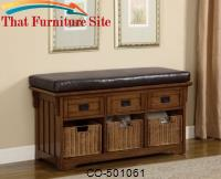 Benches Small Storage Bench with Upholstered Seat by Coaster Furniture