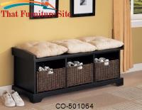 Benches Storage Bench with Baskets by Coaster Furniture