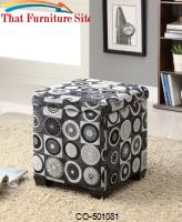 Ottomans Square Fabric Ottoman by Coaster Furniture