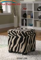 Square Storage ( Khaki Zebra ) Ottoman *D by Coaster Furniture