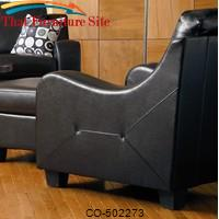 Java Contemporary Leather Chair by Coaster Furniture