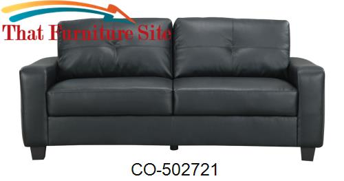 Jasmine Leather Sofa by Coaster Furniture | Austin