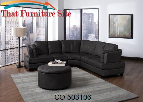 Tremendous Landen Bl Contemporary Curved Leather Sectional Machost Co Dining Chair Design Ideas Machostcouk