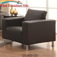 Cooper Upholstered Chair w/ Chrome Legs by Coaster Furniture