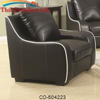 Myles Bonded Leather Chair by Coaster Furniture