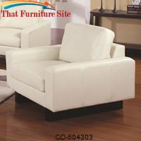 Ava Contemporary Leather Chair with Platform Legs by Coaster Furniture